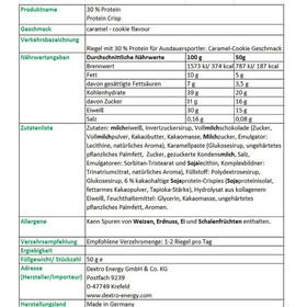 Dextro Energy Protein Crisp Box 24 x 50g Karamel-Cookies